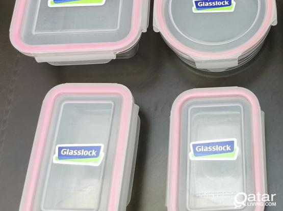 Glass containers Glasslock - Pink Pack