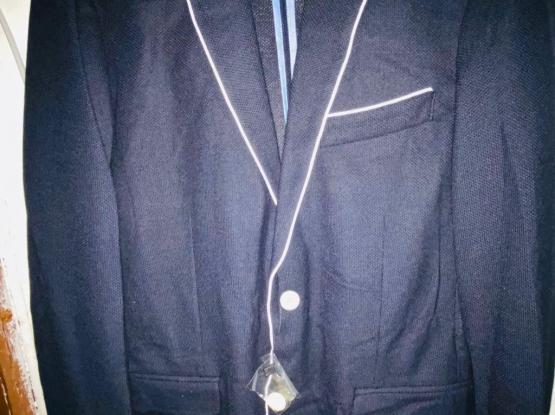 Zara Mens 2 Blazer Jacket brand New Blue And Grey