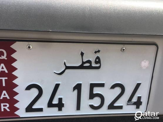 Fancy Number Plate 24 15 24