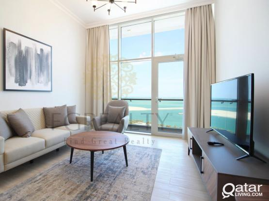 2 MONTHS FREE + UTILITIES: Seaview 1BR Furnished Apt. in Lusail City