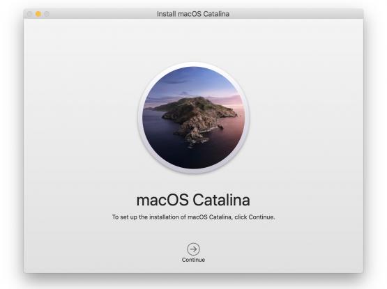 Mac OS installation