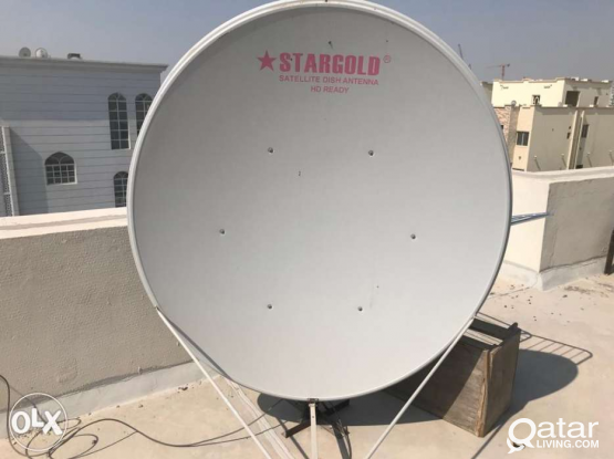 Any dish satellite fixing dish lnb cable reciver s