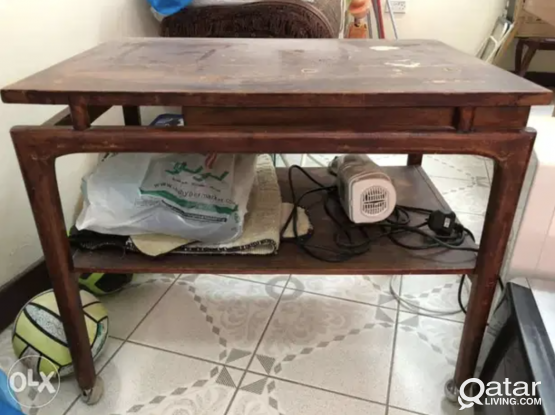 Wooden Table with drawer