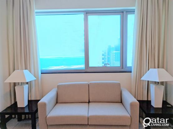 Sea View FF 2bhk Apt+Bills -West Bay