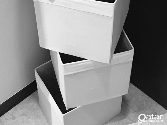 4 Pcs IKEA WHITE DRÖNA Box