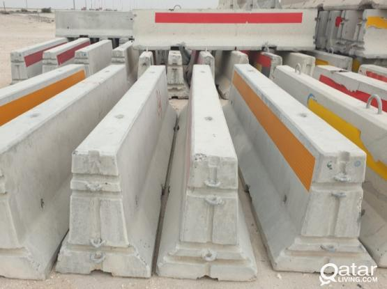 New 3.8m Concrete barriers with Used 3m concrete barriers & 2m Plastic barriers Available for serious buyers only.