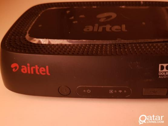 Airtel receiver included power adaptor  HDMI cable, remote