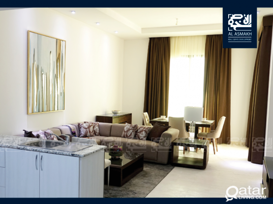 New Lux. Furnished 1-BDR Apartment in Fox Hills, Lusail