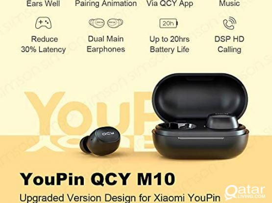 WIRELESS EARBUDS QCY M10 (ORIGINAL AND BRAND NEW))