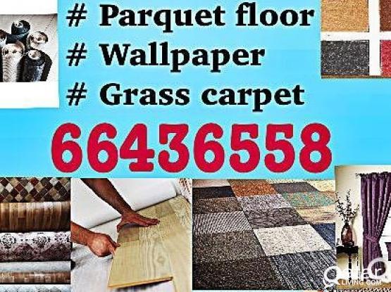 Carpat wallpaper  parquet  wood  curtains sale & fixing