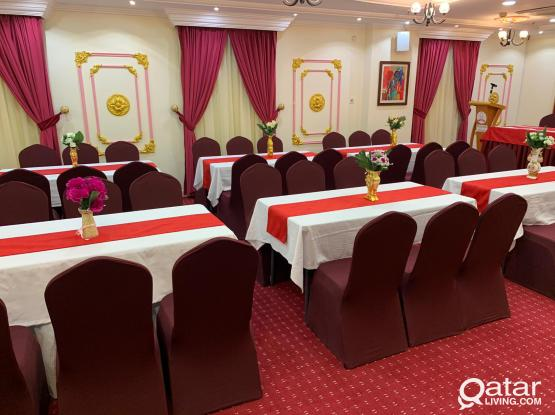 Party Hall for Rent with complete Set up in Old Al Ghanim