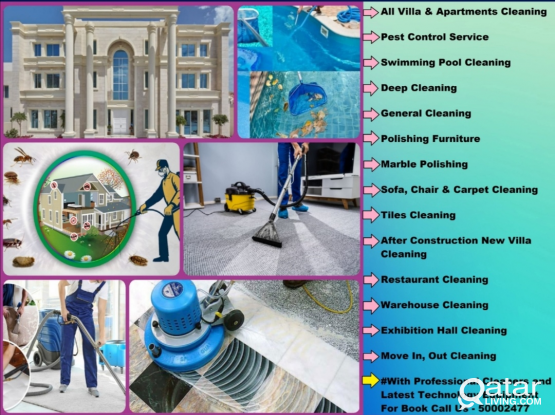 Call us - 50002477 Commercial Cleaning, Pest Control, House Cleaning & Swimming Pool Cleaning