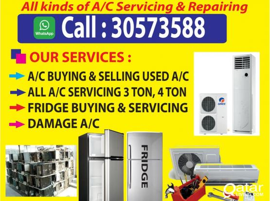 Window and split Ac/buying/ selling and repairing 24 hours. ANY LOCATION.Please call and WhatsApp 30573588
