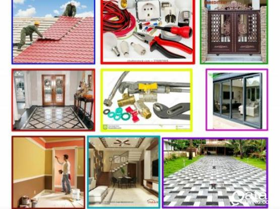 Electric, Plumbing, Painting,Tiles Ceramic  steel door, Parking gypsum decor, water proofing. Please call 55430755