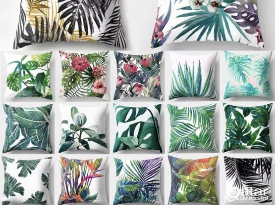 Tropical Leaf Cushion Covers