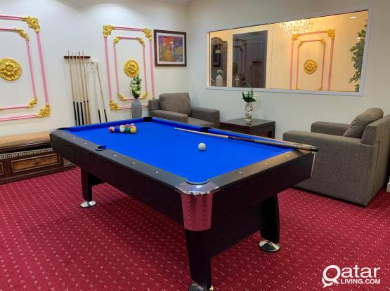 Play Billiards Game per hour – 30qr