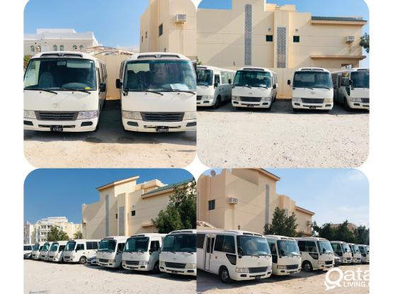 Toyota coaster available for rent