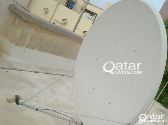 Airtel Dish Antenna with 2 connection of LNB