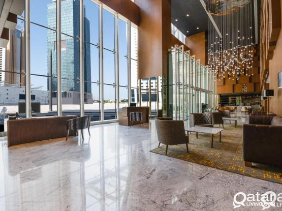 Aleph Doha Residences, Curio Collection by Hilton Brand new Two bedroom Hotel Apt FF