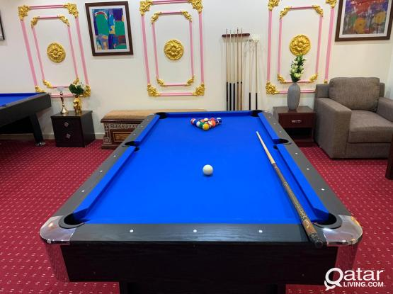 Offer to playing Billiards Game per hour - 30qr