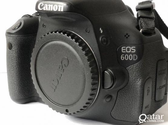 Canon 600 D Camera Body With Flash For Sale