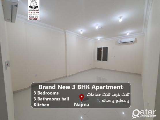 Brand New 3 BHK 1 month free