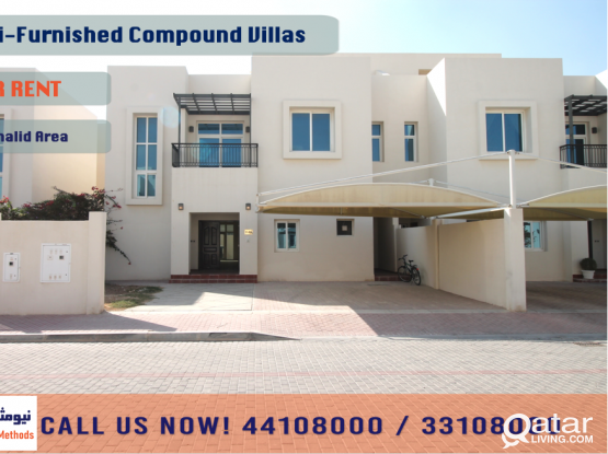SEMI-FURNISHED RESIDENTIAL COMPOUND VILLAS AT AIN KHALID - FOR RENT