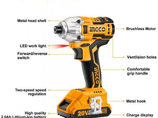 Ingco brushless motor 300N.m drill.