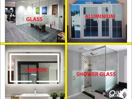 Glass Mirror Aluminium  Works