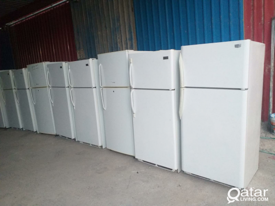 Different types of refrigerators are sold here at