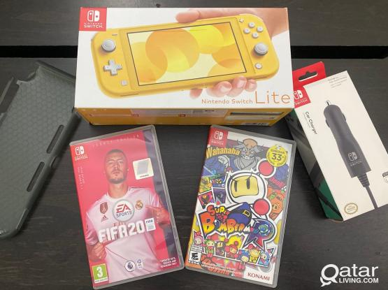 Brand New Nintendo Switch Lite with 2 Games, Case & Car Charger