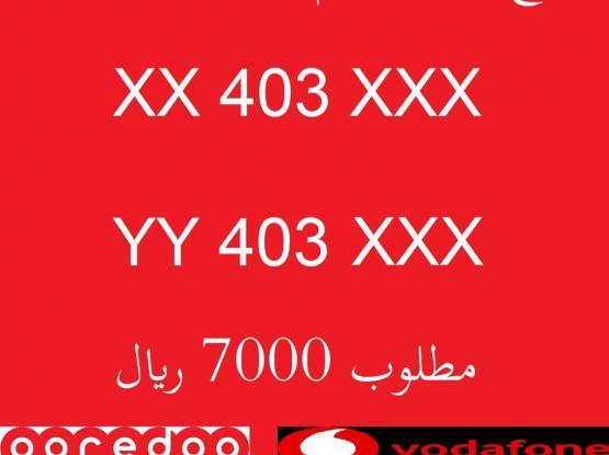 1 Set 2 Number Oreedoo And Vodafone