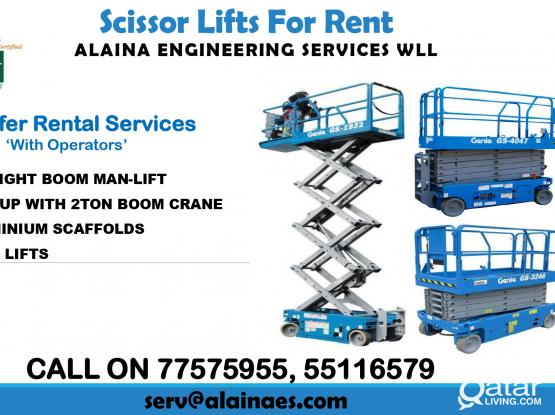 SCISSOR LIFT FOR RENT