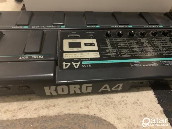 korg bass guitar effects