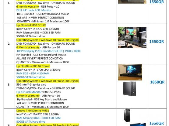 We Are Selling Use Desktop And Laptop - See all the details of the picture I am putting through