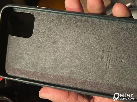 Green iPhone 11 Pro Max Leather Case