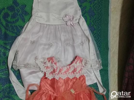 Two dresses for 4-5 years kid.