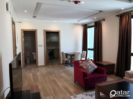 Bright and Spacious Luxury Furnished 1-BR apartment in one of Doha's most charming areas