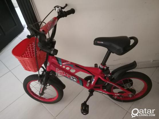 Bicycle red color very good condition for kids