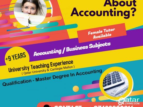 University - Business Studies/Accounting Tutor