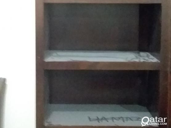 Solid wood open cabinet cum racks for sale