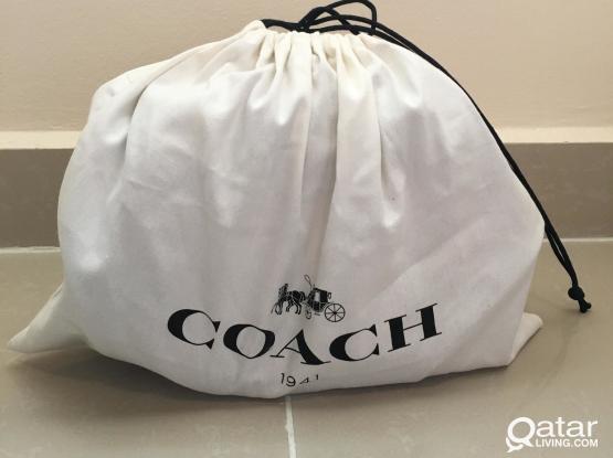 Coach patchwork saddle kiss lock bag