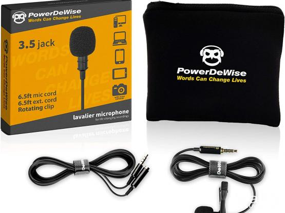 PowerDeWise Lapel Microphone Professional Microphone