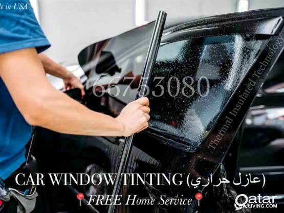 WINDOW TINTING(USA) عازل حراري| FREE Home Service