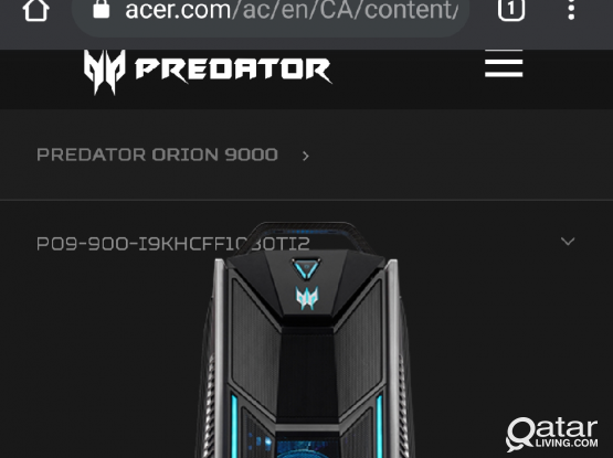 Acer Predator i9 18 core 128GB