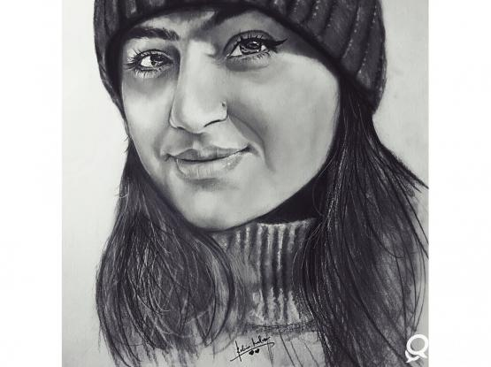 Pencil or Charcoal Portraits Drawings