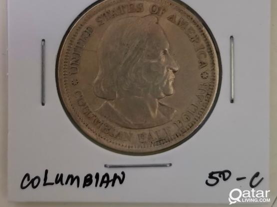 For sale 1893 Columbian Exposition Half Dollar