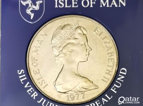 1977 Isle of Man Commemorative Coin 1 Crown
