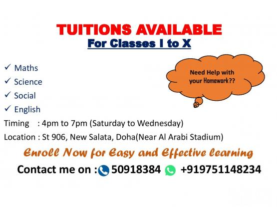 Home and Online Tuitions for Grade I to X