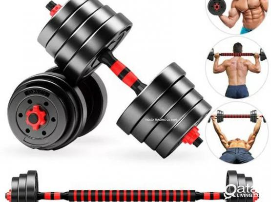 Home Gym 40KG Dumbbell/Barbell Set, Adjustable Dumbbells Weight Set Fitness Biceps Exercise Barbell/